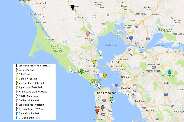 San Francisco guide map - San Francisco highlights anzeigen ...
