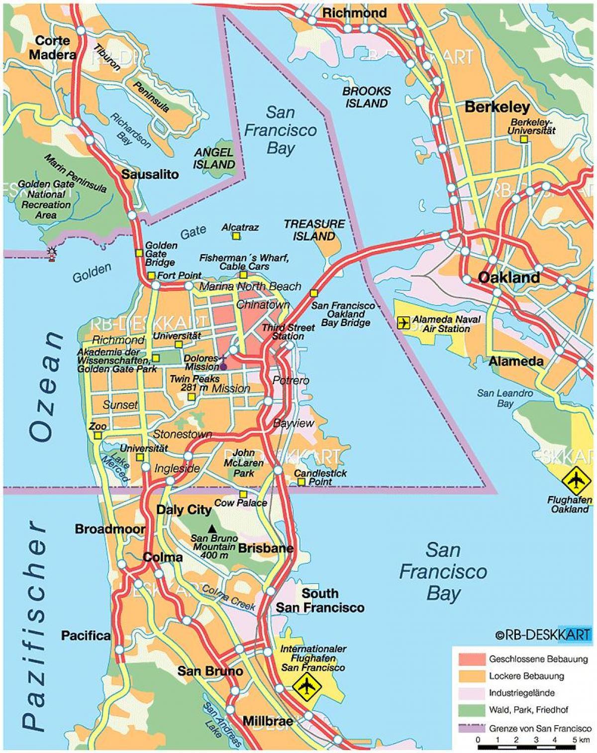 San Francisco county map - Karte von San Francisco county ...
