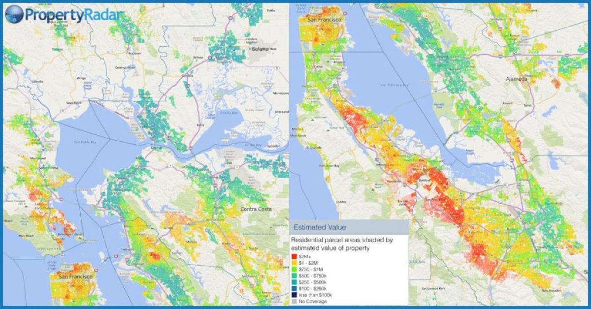 San Francisco parcel map - SF assessor Karte (Kalifornien - USA)
