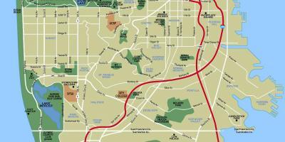 Silicon Valley Karte.San Francisco Sf Silicon Valley Karte Karten San
